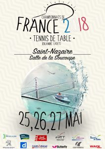 Championnats de France Benjamins Cadets : 25, 26 et 27 mai à St Nazaire