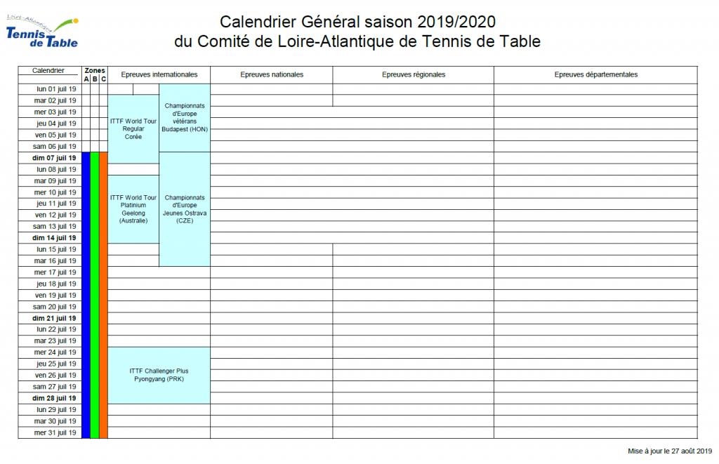 Partager Calendrier Outlook 2020.Calendrier Ping Pong Club De Saint Sebastien